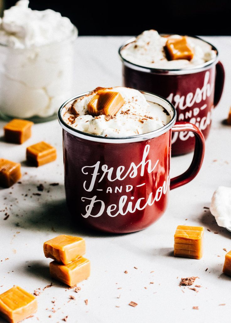 ... salted caramel hot chocolate ...