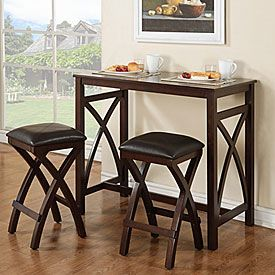 3-Piece Breakfast Pub Set | Perfect for apartments or small dining spaces.