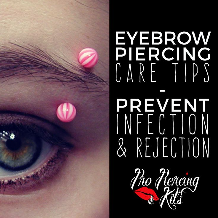 how to clean your eyebrow piercing