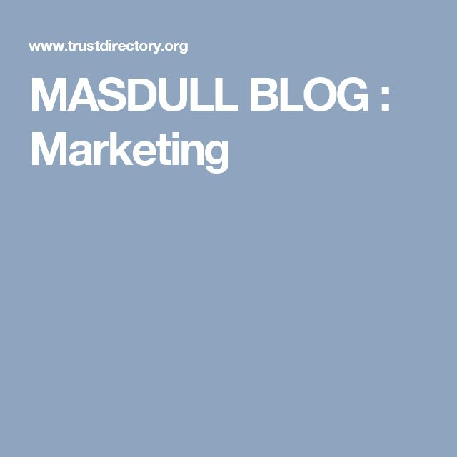MASDULL BLOG : Marketing