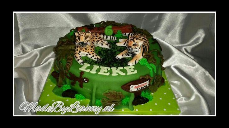 Panter en tijger taart