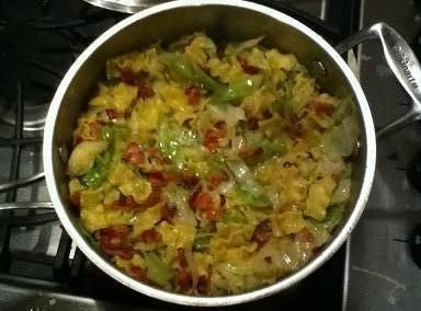 """I went over my moms today, and when I walked into her house, The entire place smelled like Cabbage and Bacon. When I asked her what she was making, She just said """"Try it"""" so I did. And it was pretty good, Though I'm not much of a Cabbage fan, I knew a lot of you would enjoy this! This is my Great Grandmothers recipe, She was your stereotypical """"Off the Boat"""" Polish ladies, Who barely spoke a lick of english. She was such a treasure. So in Tribute to my Great Grandmother, I share this recipe…"""