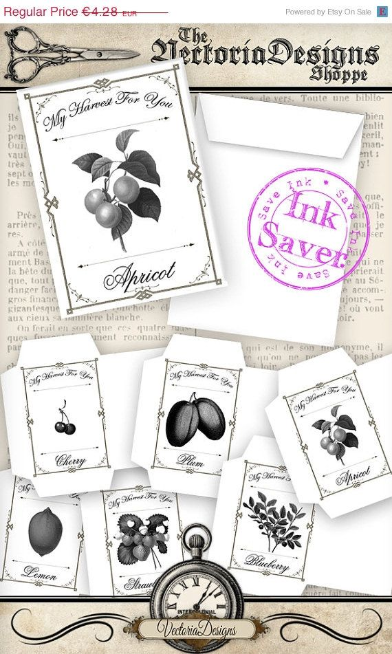 Printable Fruit Seed Packets - great gift from your own garden