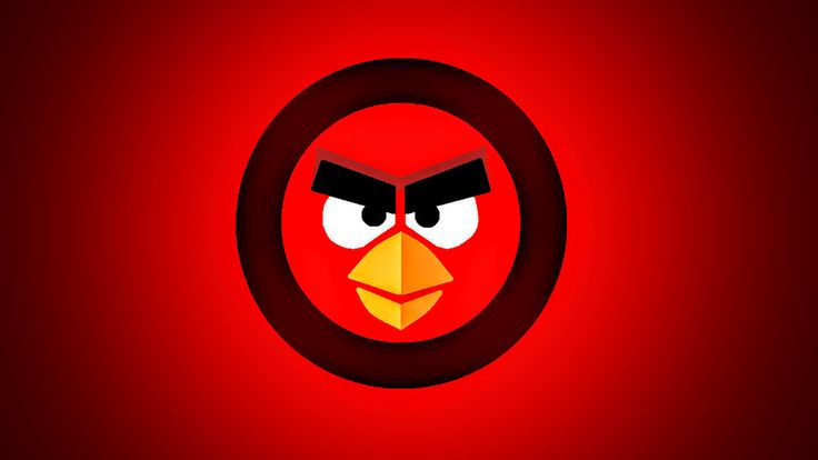 The Angry Birds Symbol Wallpaper by Alex-Bird.deviantart.com on @DeviantArt