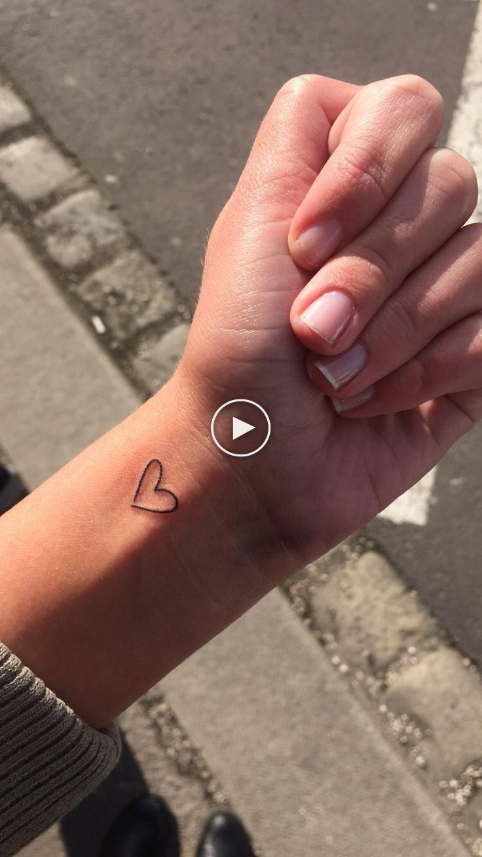 love❤️ Tattoo  small  girl   Little heart tattoos, Small ...
