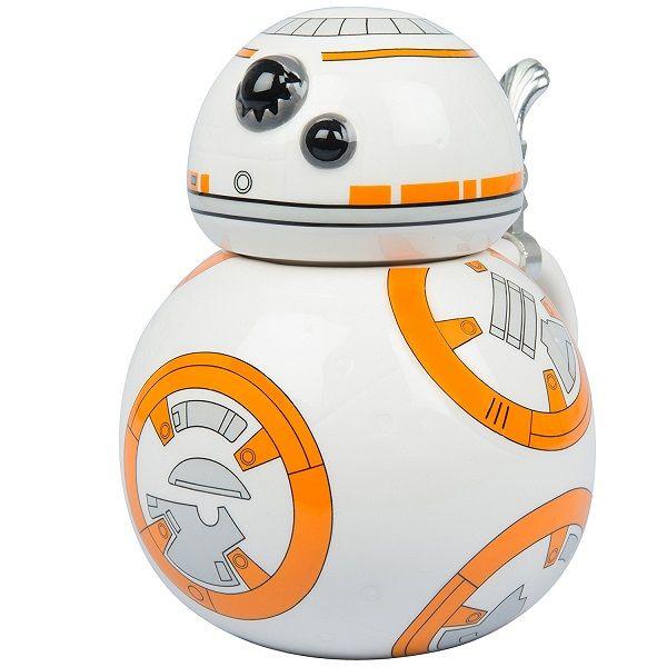 Star Wars BB-8 22oz Stein - Collectible Ceramic Mug with Metal Hinge