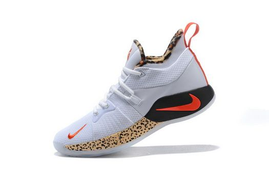 promo code 9d052 1023f Arrivel Nike Paul George Pg 2 Leopard Print White Red Black Basketball Paul  George Men Shoes