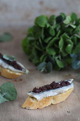 Pintxo de antxoas con paté de oliva. Receta. | To be Gourmet | Bloglovin'
