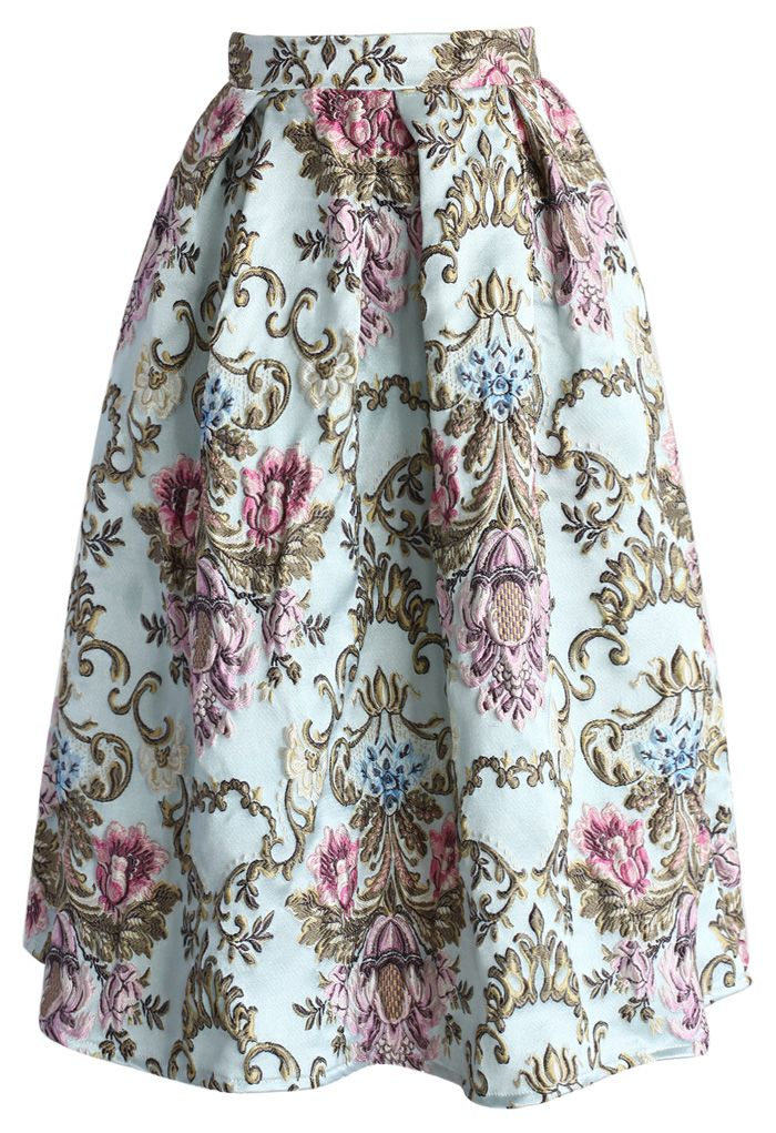 My Fair Lady Baroque Embroidery Midi Skirt - Skirt Buy 1 Get 1 HALF - Skirt - Bottoms - Retro, Indie and Unique Fashion