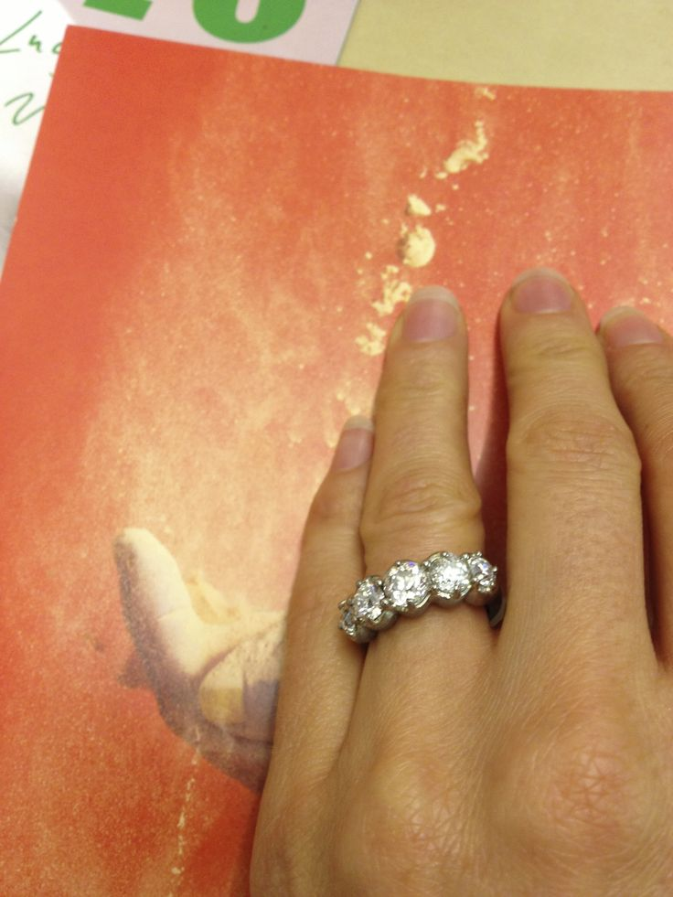 A bespoke diamond engagement ring by Lucy Folk.