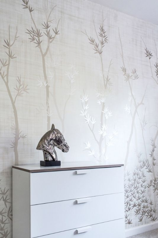 Woodland, Feature Wall U2014 Diane Hill   Hand Painted Interiors A Subtle  Backdrop To Suit
