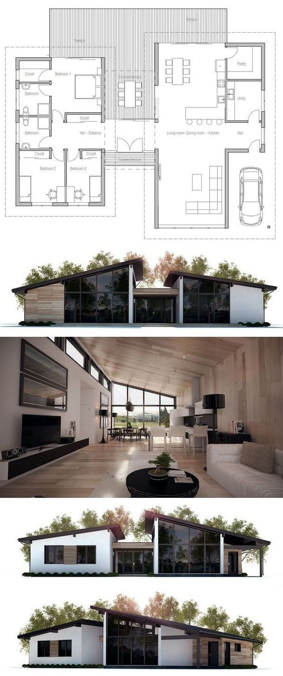 best 25 modern bungalow house plans ideas on pinterest small farmhouse plans bungalow. Black Bedroom Furniture Sets. Home Design Ideas