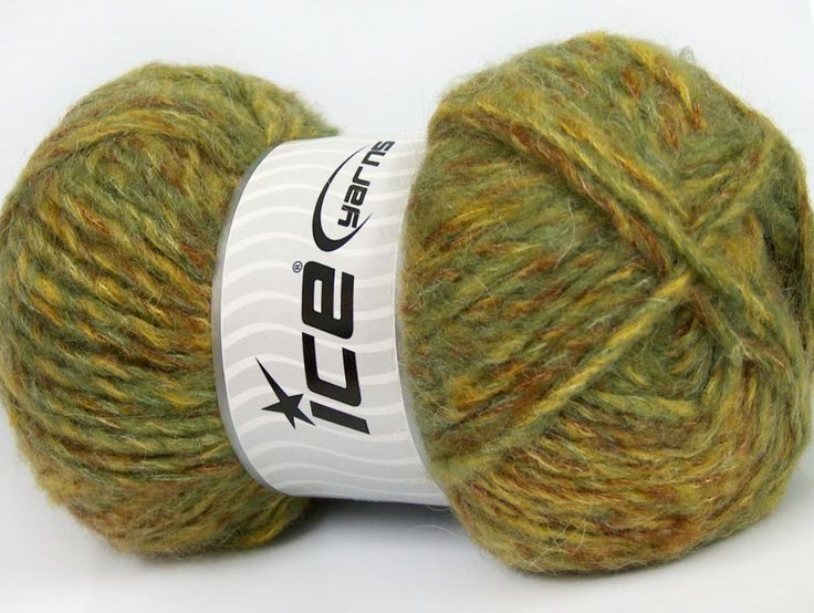 Composition 43% Acrylique 27% Polyamide 15% Mohair 15% Laine Brand ICE Green Shades fnt2-41164
