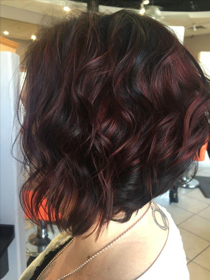 Fall hair color. Chocolate cherry! @DolledupbyShelby