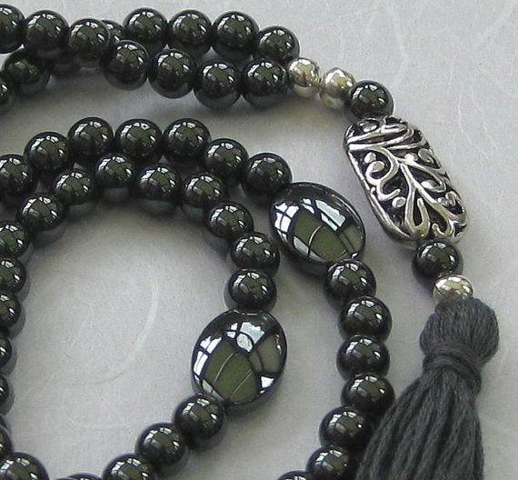 99 Hematite Sufi Islamic prayer beads meditation gemstone 6mm bead tasbih misbaha £25