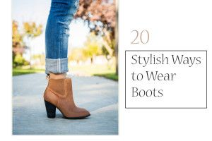 20 Stylish Ways to Wear Boots || love almost all the outfits she has. I must get some of these pieces.
