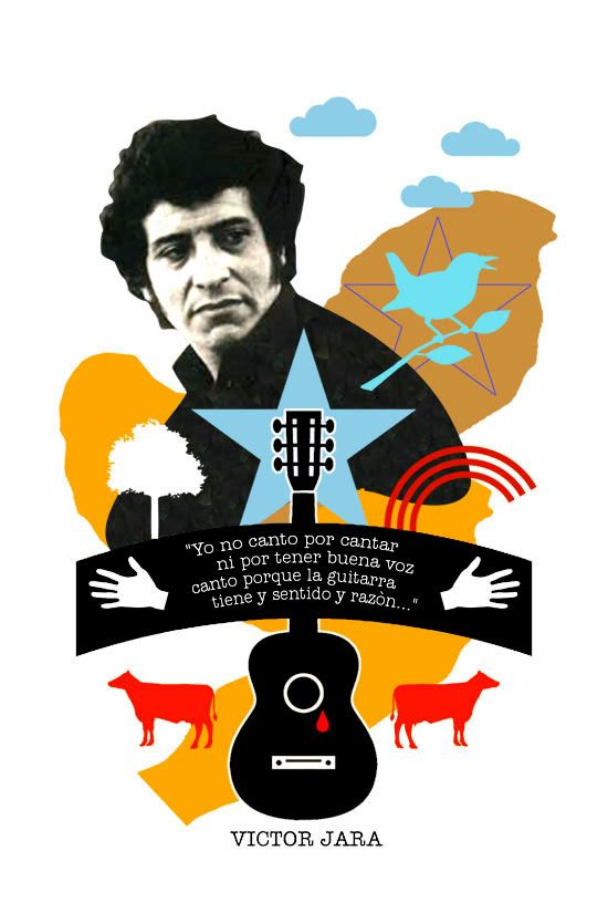 A 42 años de su asesinato hoy se recuerda al gran Víctor Jara.                                                                                                                                                                                 Más