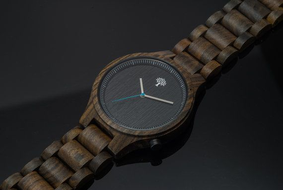 Présente Black Watch de bois montre bois noir montre par LuxWoods