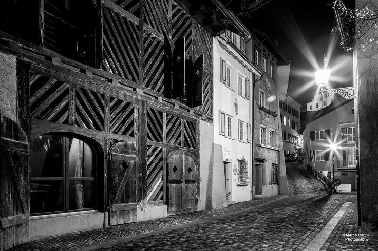 Night scene in Baden, Switzerland.