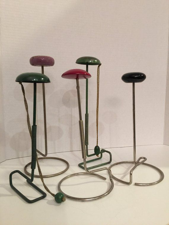 Vintage Hat Display Stands Five Total Instant Collection Hat Display Display Stand Hats Vintage