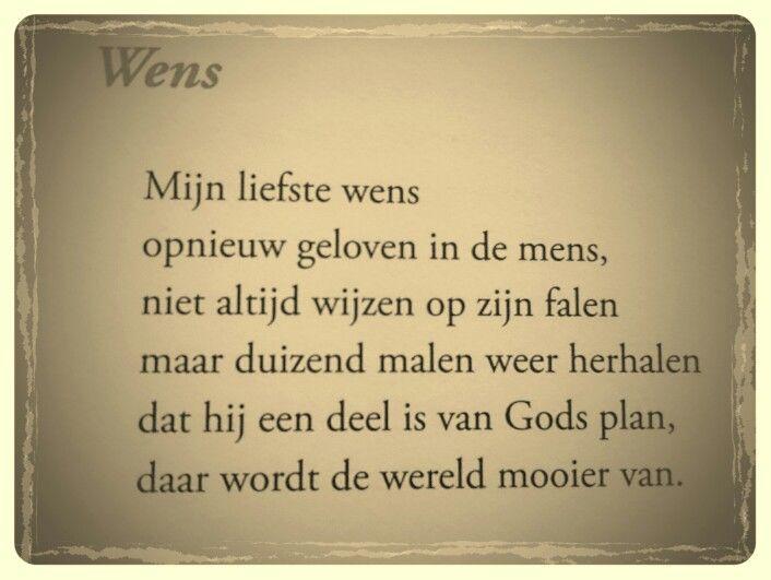 Gedicht 'Wens' - Toon Hermans