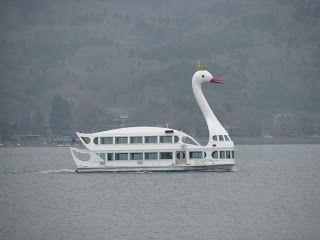 swan boat in Japan