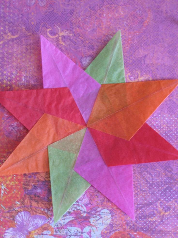 Waxed Paper Stars