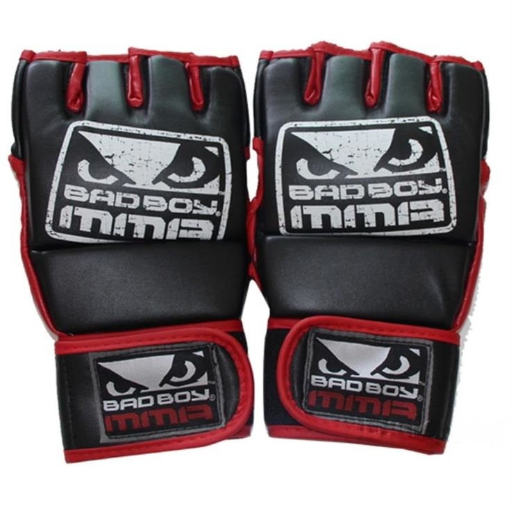 New Kick Boxing Gloves MMA Gloves Muay Thai Training Gloves MMA Boxer Fight Boxing Equipment Half Mitts Badboy PU Leather Black #women, #men, #hats, #watches, #belts, #fashion