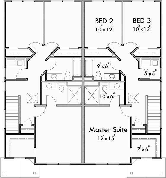 House Plans Duplex Plans Row Home: 25+ Best Ideas About Duplex House Plans On Pinterest