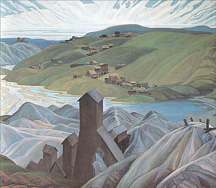 By the Group of Seven member Franklin Carmichael of a northern silver mine.