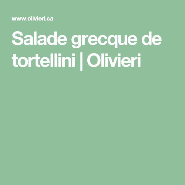 Salade grecque de tortellini | Olivieri