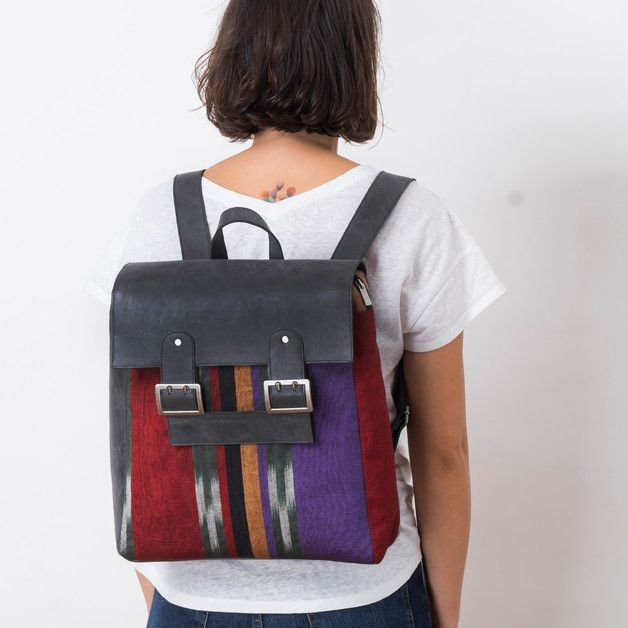 Backpacks – The Red One - Handmade Leather Backpack – a unique product by SimpleCommunity on DaWanda