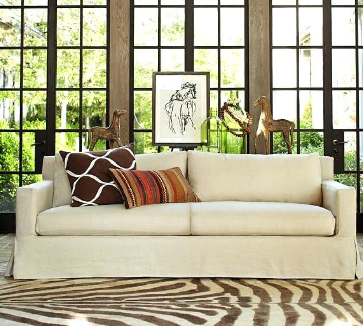 Pottery Barn Solano Sofa Slipcovered