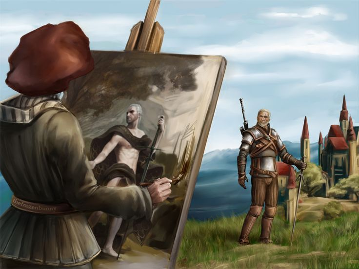 """""""A Portrait of the Witcher as an Old Man"""" I haven't played ..."""