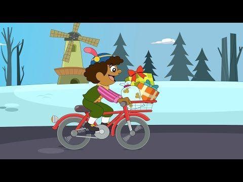 Piet Ging Uit Fietsen   Sinterklaas   Sinterklaasliedjes   Kinderliedjes   Minidisco - YouTube