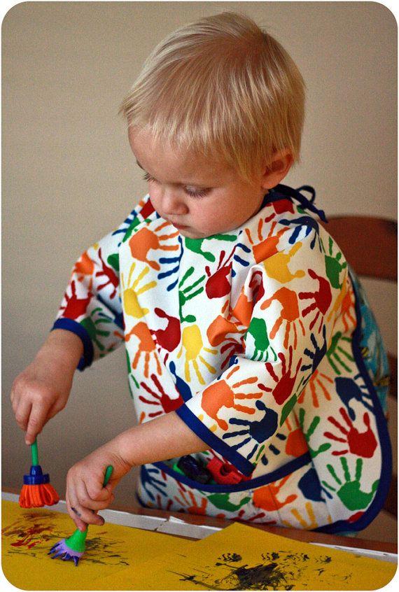 Art Smock: Children's Art Smock Pattern by PeekabooPatternShop