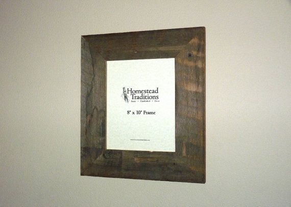 "Barn Wood Picture Frame - 8"" x 10"""