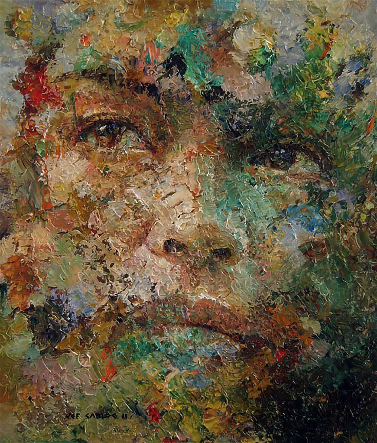 Jef Cablog Expressive Figurative Portraits Of The Philippines Emptyeasel Com In 2020 Artist Art Philippines