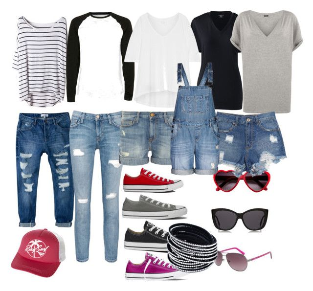 Summer Capsule Rockabilly Mom by queenbkati on Polyvore featuring polyvore fashion style WearAll 10 Crosby Derek Lam Lands' End Current/Elliott MANGO City Chic Converse Roxy Le Specs Calvin Klein Topman clothing