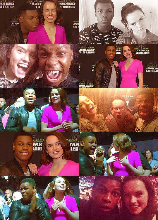 The stars of Star Wars: The Force Awakens — John Boyega (Finn) and Daisy Ridley (Rey)