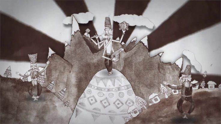 #video #vimeo #animation #carpathian #tale #bw #ukrainian #story #art #cartoon #superheroes #studio #clip #watercolor #gouache #outline #dakhabrakha #cutout #2D