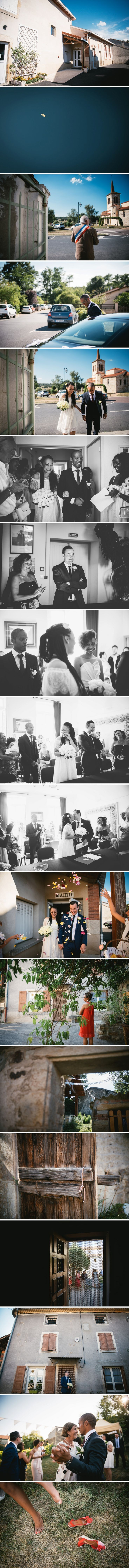 Small wedding ceremony and reception in Central France - Zephyr & Luna photography