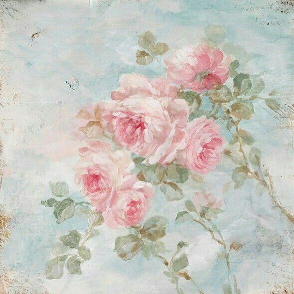 картинки для декупажа розы на голубом фоне картинки