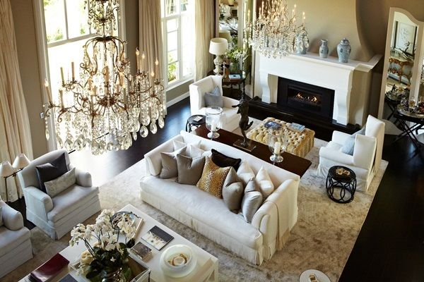 The lavish lounge of the Constantia Upper mansion