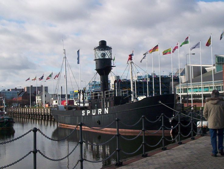 Hull Marina in Hull, Kingston upon Hull - My Grandfather worked on this lightship when it was on station in the Humber estuary .