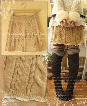 Upcycle a men's sweater into a fall knit skirt.