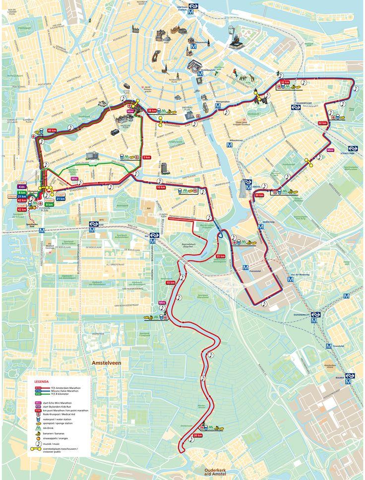 Parcours Marathon van Amsterdam 2014