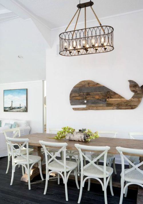 Rustic Wood Whale Wall Decor... http://www.completely-coastal.com/2017/01/nautical-reclaimed-wood-rustic-decor-ideas.html