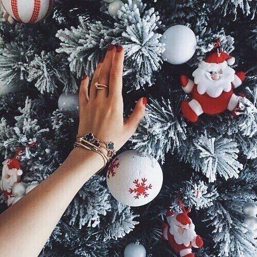 christmas, winter, and snow-bilde