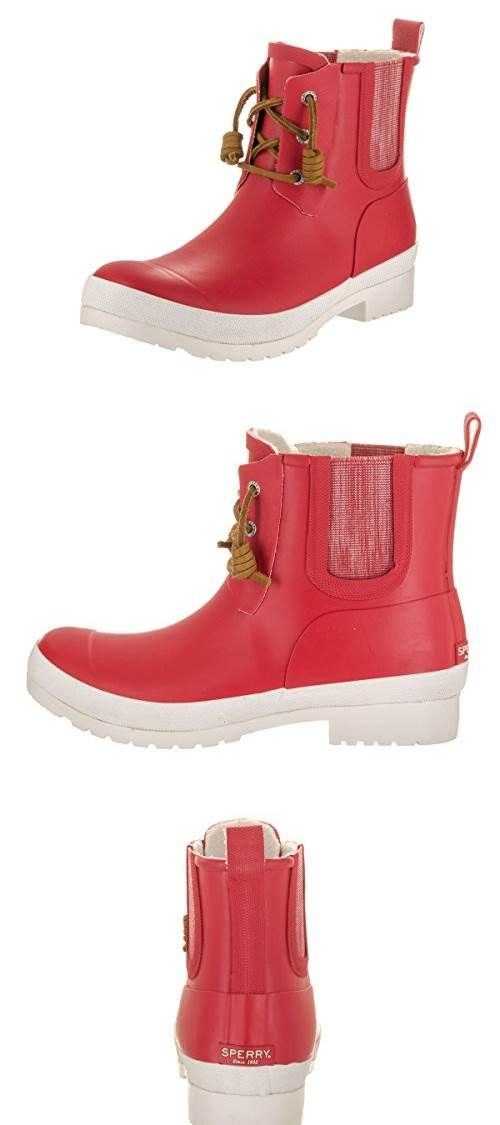 Sperry Top Sider Womens Walker Steam Red Boot 9 Women US #Shoes